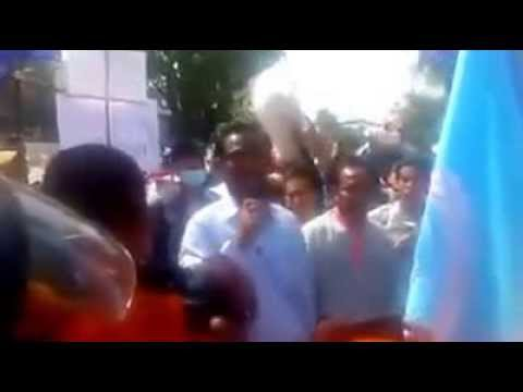 Citizens Protested in front of Unitied States Embassy - Part1/2
