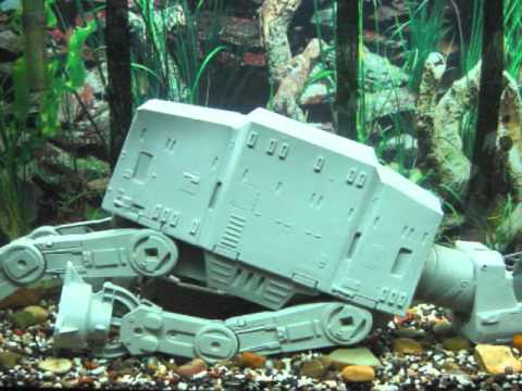Star wars imperial assault on hoth fish tank youtube for Star wars fish tank decorations
