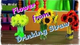 Making Flower From Drinking Straw