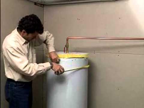 Installation de couverture isolante pour chauffe-eau - YouTube