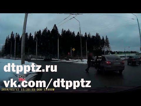 На Чапаевском кольце подрались два водителя