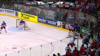 Russia - Finland WC 2014 Final Was A Total Fiasco - Malkin Breaks Haula's Jaw And More (video)