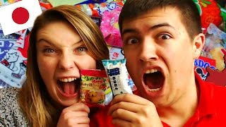 FUNNY REACTING TO JAPANESE CANDY SWEETS!