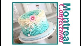 How To Make A Chevron Pattern On A Cake Teal Ombre