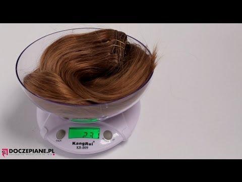 Włosy CLIP IN 60 cm 230g - Ważenie - DOCZEPIANE.pl