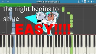 The Night Begins To Shine-piano Tutorial