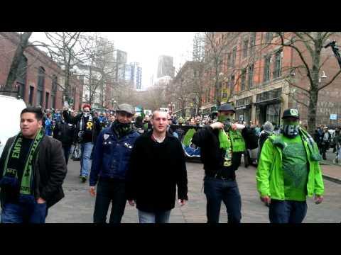 Seattle Sounder v Toronto FC march to match 3/15/14