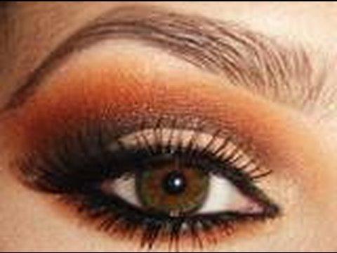 orange smokey eye shadow tutorial youtube