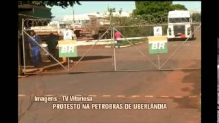 Por falta de pagamento, trabalhadores fazem protesto em Terminal da Petrobras em Uberl�ndia