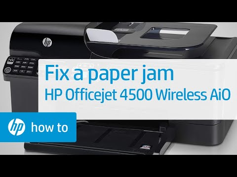 Fixing a Paper Jam - HP Officejet 4500 Wireless All-in-One (G510n)