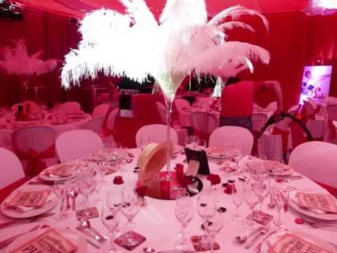 Decoration de salle theme cabaret mariage theme cabaret - Decoration noel rouge et blanc ...