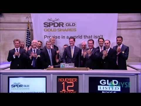 The World Gold Council and State Street Global Advisors ring the NYSE Closing Bell