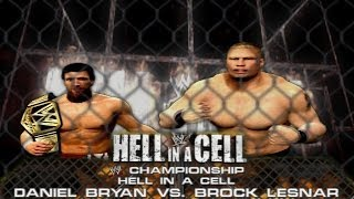 WWE 2K14: Daniel Bryan Vs Brock Lesnar Hell In A Cell