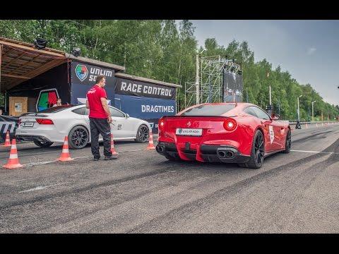 Audi RS7 mit 700PS knöpft sich Ferrari F12 Berlinetta mit 740PS vor