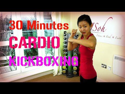 30 Minutes Cardio Kickboxing (Burn 300 Calories!) - YouTube