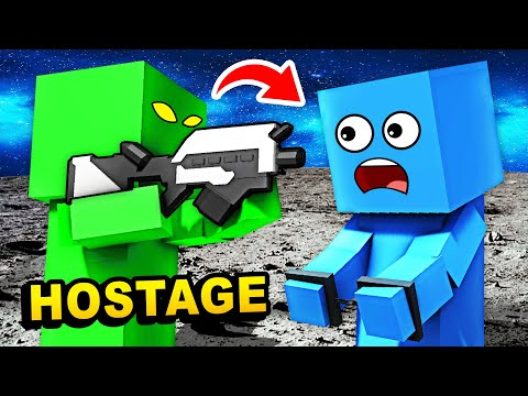 RESCUE HOSTAGE From ALIENS In MOON PRISON (Funny Ancient Warfare 3 Gameplay)