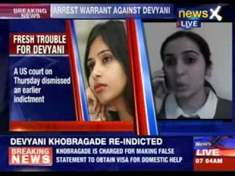 Arrest warrant against Devyani Khobragade