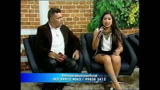 Edilson Barbosa entrevista Mayara Barros