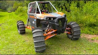 CUSTOM BUILT CENTER SEAT TURBO POLARIS RZR. Багги Видео.
