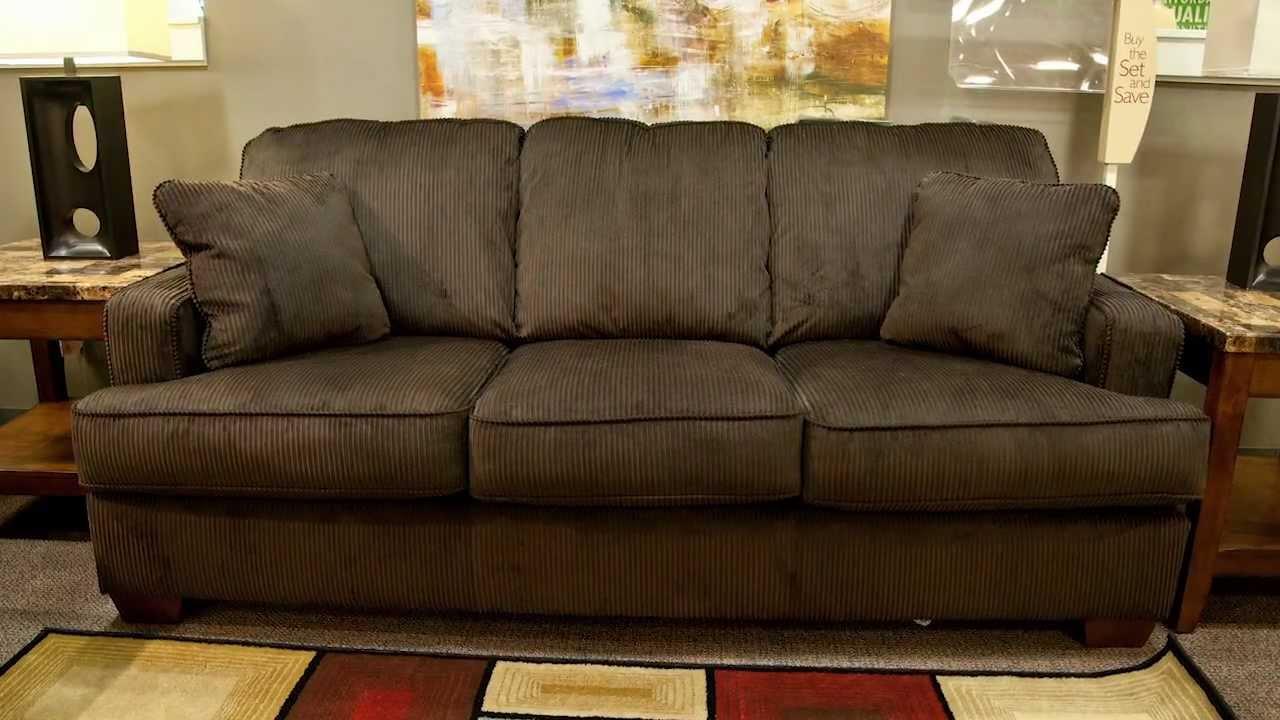 Ashley Atmore Chocolate Sofa Youtube