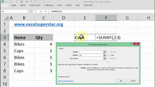 SUMIF function - Adding numbers based on criteria in Excel | Hindi