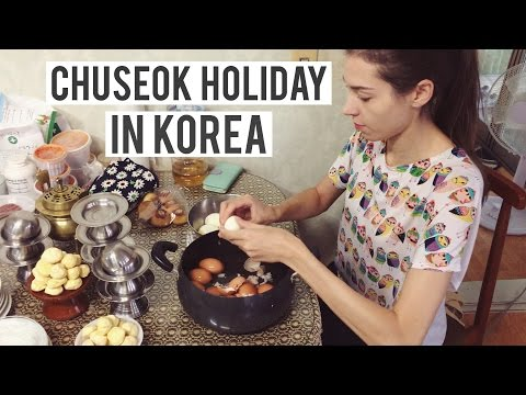 CHUSEOK Holiday in Korea | So much FOOD! '규호와 세라' 아내와 추석 명절 (자막 CC)