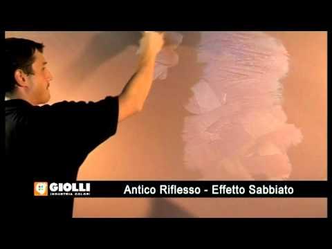 Giolli - farba dekoracyjna Antico Rifllesso Sabbiato - nakładanie pedzlem