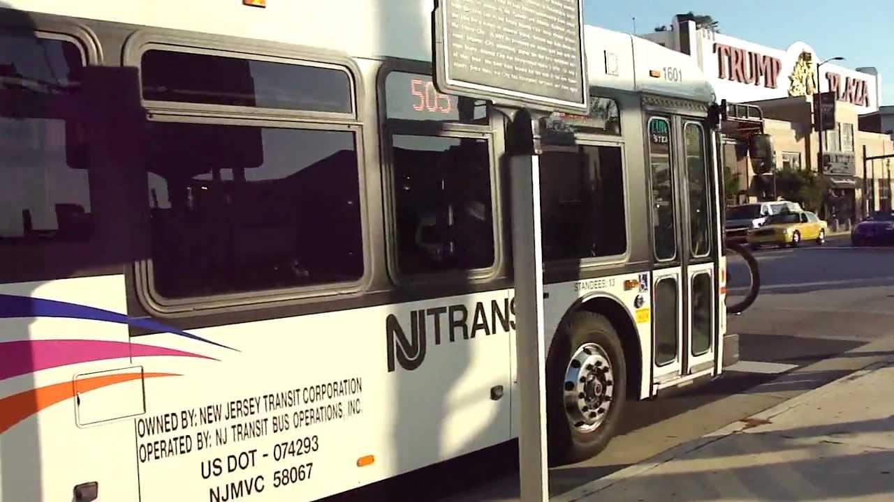 Njt Bus 1 Exclusive 2012 Nabi 31 Lfw Route 505 Bus