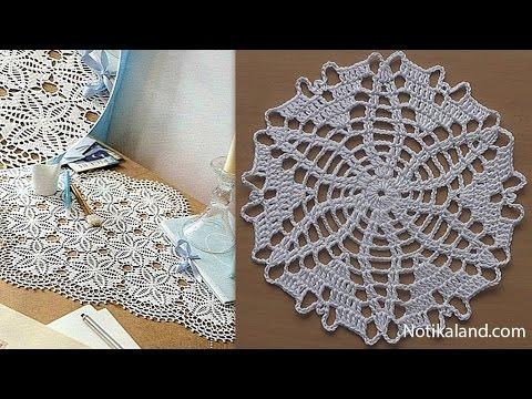CROCHET doily Tutorial Pattern Crochet Motif How to crochet doily Part 6 Border 2 round