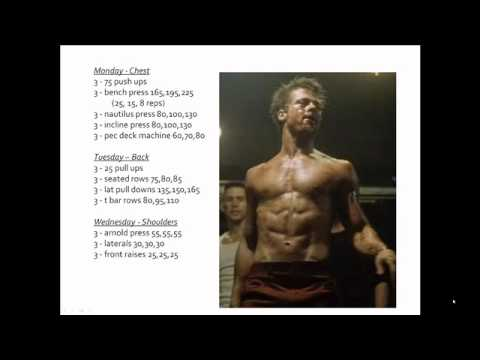 Fight Club Workout - How To Get Ripped Like Brad Pitt From ...