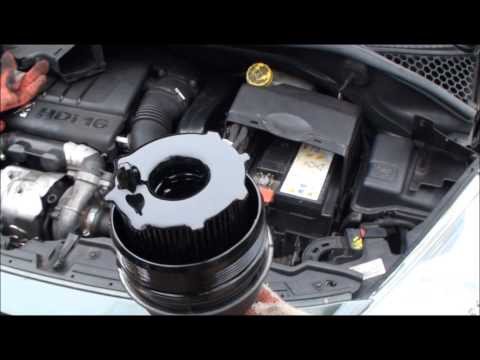wymiana filtru oleju Peugeot 207 1,6 HDi - How to change oil filter in Peugeot 207 1,6 HDi