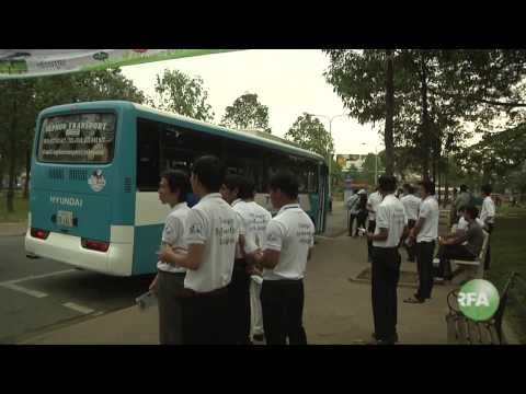 Trial Run of Phnom Penh Buses