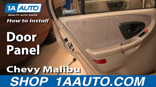 How To Install Remove Rear Door Panel Chevy Malibu 97-03