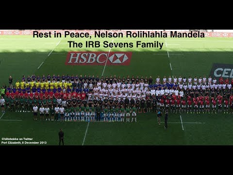 IRB Sevens Family pays tribute to Nelson Mandela