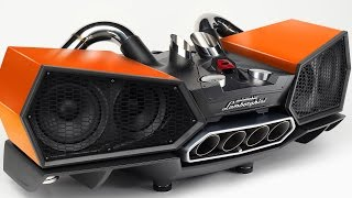 Lamborghini Audio Station (Uses Lamborghini Exhaust Pipes). YouCar Car Reviews.