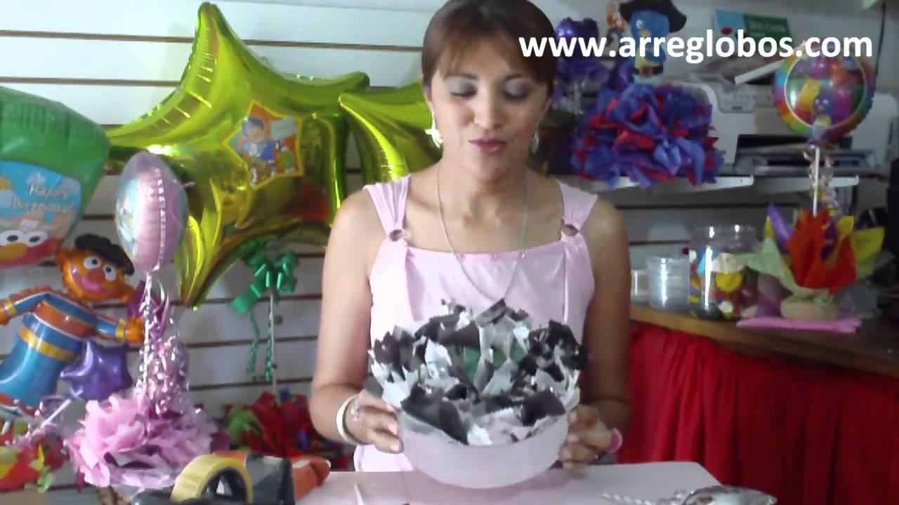 Centro de Mesa para Graduacion www.arreglobos.com - YouTube