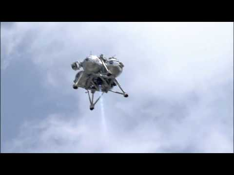 Morpheus Lunar Lander Sets Down in Boulder Field | NASA Video