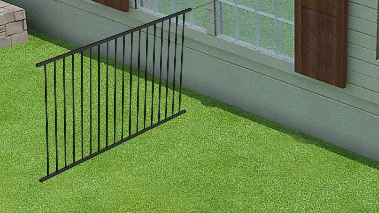 Wambam Fence 39 S No Dig Aluminum Fence Installation Youtube