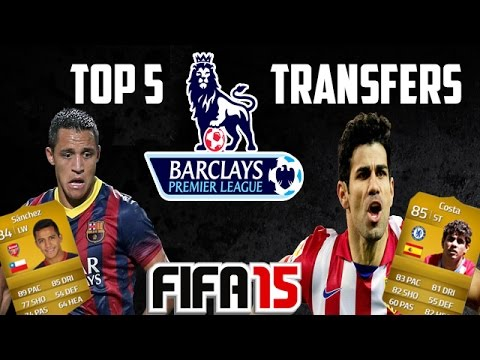 Alexis Sanchez to ARSENAL | Top 5 EPL Transfers | FIFA 15