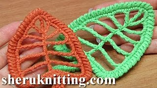 Crochet Leaf Tall Stitches Tutorial 18
