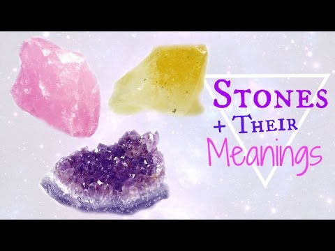 Crystals and Their Meanings │ Benefits + Healing │ Citrine, Amethyst, Rose Quartz