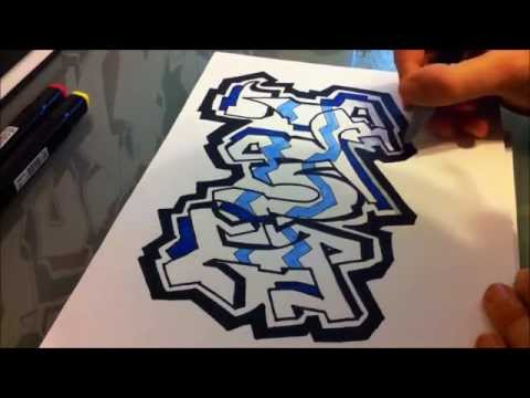 How to Draw Graffiti Letter H - YouTube