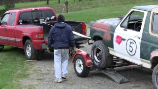 Winch A Vehicle Onto A Car Tow Dolly