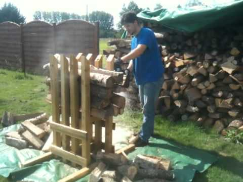 Chevalet pour d biter du bois de chauffage en buche de 30 cm ou 50 cm youtube - Chevalet pour couper du bois ...