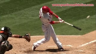 Mike Trout Hitting Mechanics Slow Motion Baseball Swing - 10000fps LA Angels MLB home run