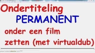 Ondertiteling Permanent Onder Een Film Zetten. (met