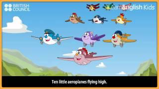Ten little aeroplanes - Nursery Rhymes & Kids Songs - LearnEnglish Kids British Council