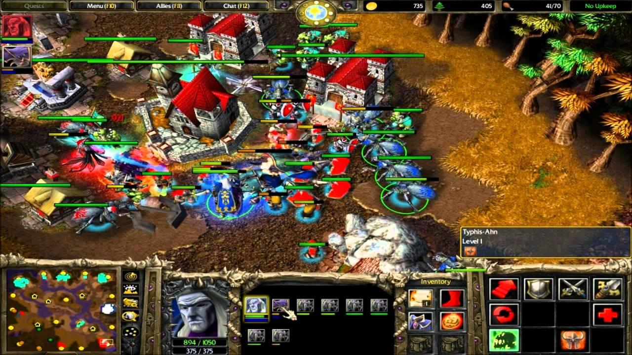 4v4 Random Team #5 Warcraft 3 The Frozen Throne Battle net Multiplayer Comm