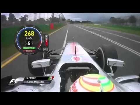 F1 2013 - Melbourne - Sergio Perez Onboard