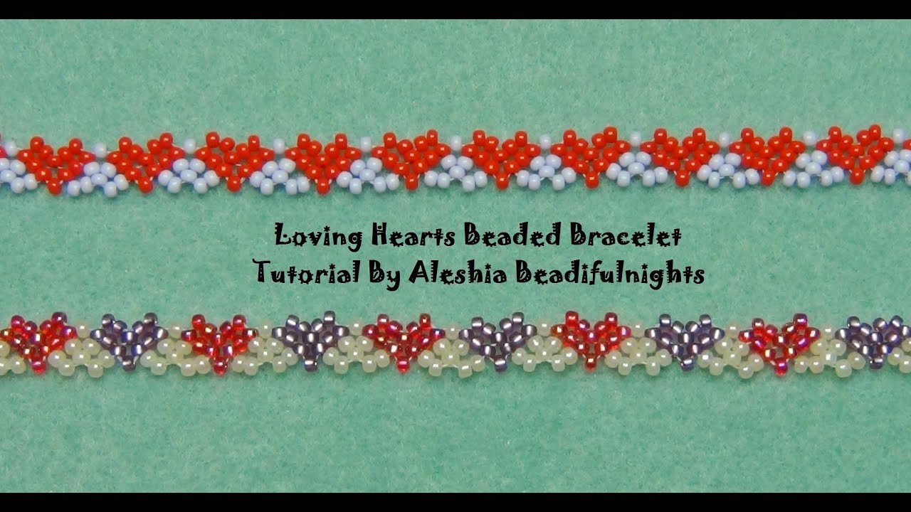 Loving Hearts Beaded Bracelet Tutorial - YouTube